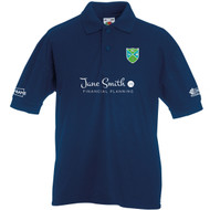 Podington CC Junior Navy Polo with Sponsors