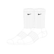Worcestershire Rapids Nike Sports Socks (Pack of 3)