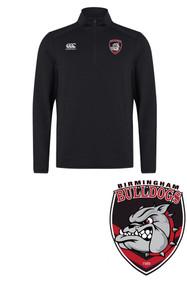 Bulldogs Black Club 1/4 Zip Midlayer