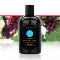 GRAPESEED OIL – 100% All-Natural Silky-Smooth Pure Grapeseed Oil has Powerful Restorative Properties for the Softest and Most Luxurious Hair and Skin!