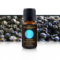 BLACK PEPPER ESSENTIAL OIL - of 100% Proven Purity - Most Popular for Cramps, Nausea and Gas