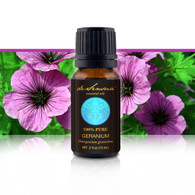 GERANIUM ESSENTIAL OIL - of 100% Proven Purity - Most Popular for Promoting Calmness and Clear Healthy Skin