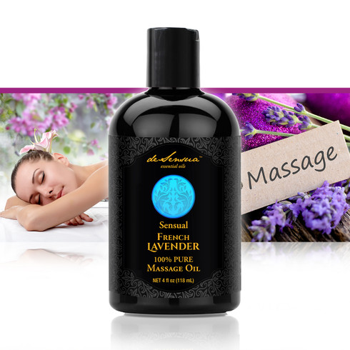 Sensual Massage Oil infused with Lavender Essential Oil by deSensua