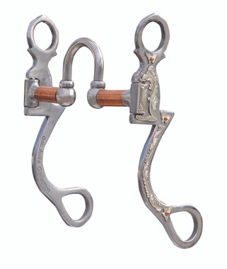 "Seven Shank Correction AVB-210  Port: 2"", Mouth: 5 ¼"", Cheek: 7""   The four moving parts allow the horse to respond to subtle rein pressure which greatly reduces heavy rein handling. Copper bars keep the horse's mouth moist. This bit can be used in any western discipline."