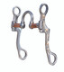 """Correction AVB-220  Port: 2"""", Mouth: 5 ¼"""", Cheek: 7"""" The four moving parts allow the horse to respond to subtle rein pressure which greatly reduces heavy rein handling. Copper bars keep the horse's mouth moist. This bit can be used in any western discipline."""