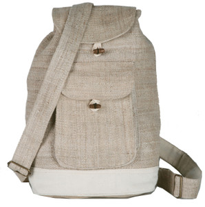 "PDRS  -  Hemp Back Pack Assorted Colors 12"" X 14"""