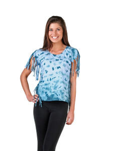 Tie Dye top with fringe to kill