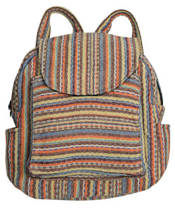 3 pocket Back Pack made from special woven fabric