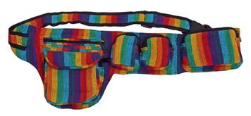 5 pocket adjustable Rainbow woven belt