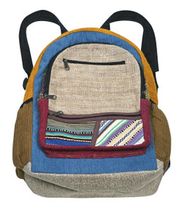 "PA-4 - Hemp Back Pack Assorted - 16"" x 17"""