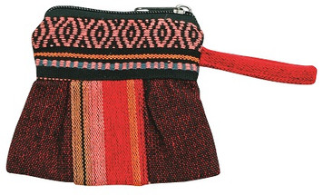 coin purse made from hand loomed material