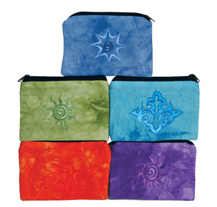 """H7-4  -  Tie Dye Coin Purse Assorted Colors 5.5"""" X 4"""""""