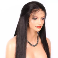 180% Density Light Yaki Straight 360 Frontal Wig- Breathable Cap