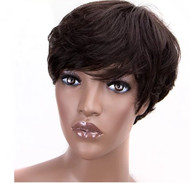 130% Density Pixie Cut Wig- Breathable Wig Cap