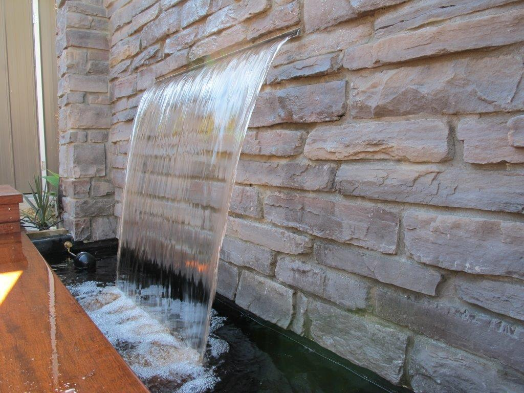 Do It Yourself Stone Wall Garden Water Feature