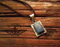 SOLD! was $99 now $69 Stunning! Rare! Modernist Vintage Navajo Pawn hallmarked! Sterling Silver & Denim Lapis Pendant