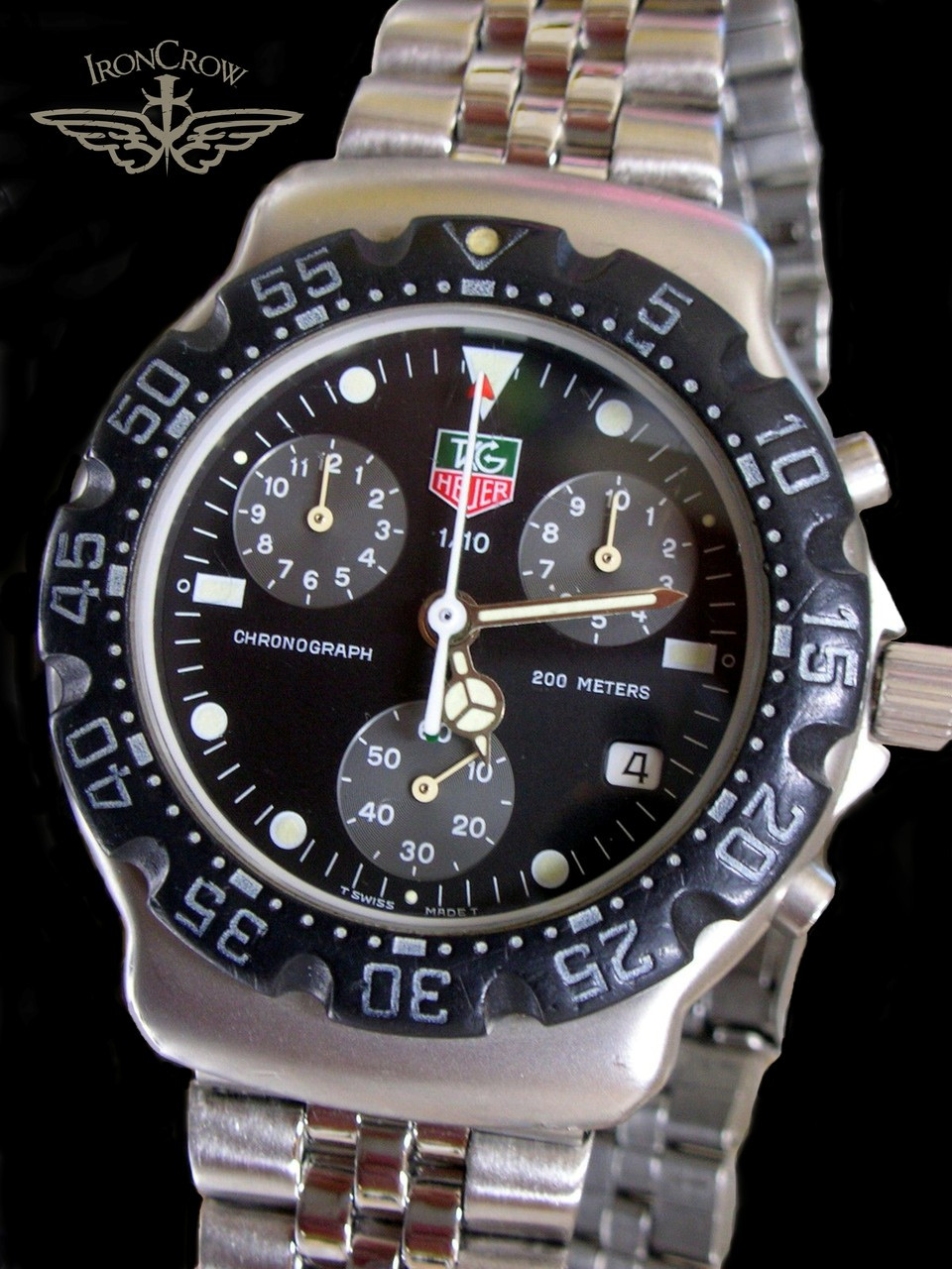 SOLD! Bad Ass! First Generation Tag Heuer f1 1987-89 chronograph 1/10 200  meter watch model 571 513 FreeShipping!