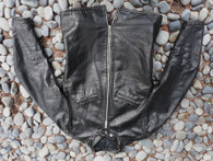 Coolest late 1960's Talon zippered Steerhide Leather Cafe' Racer jacket like vintage Schott 654 with slanted chest pockets U.S. size 40