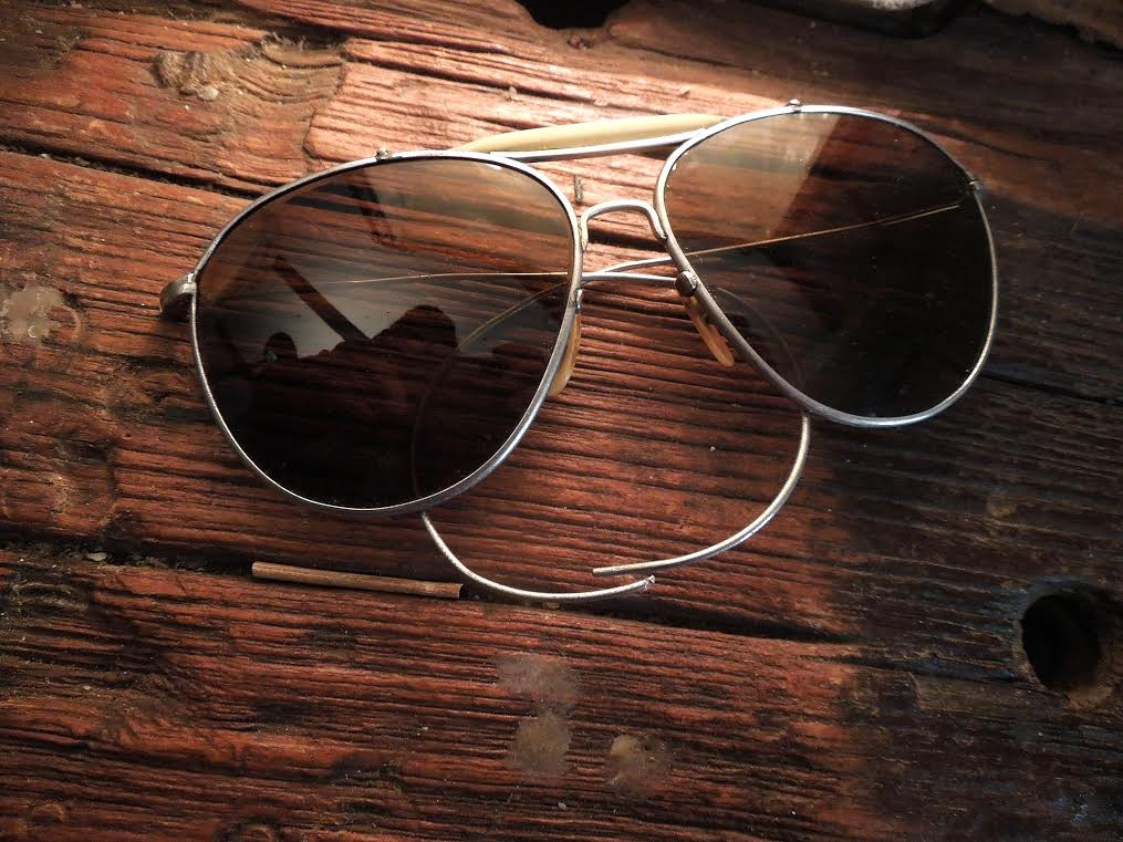 e35f255f63 Vintage WW 2 era (1940 s) Bausch   Lomb Aviator Glasses 50mm Amber Lenses -  Iron Crow Rockin Vintage