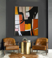 "Original signed Abstract painting on Canvas 48""x 60"" by Matt Dougan"