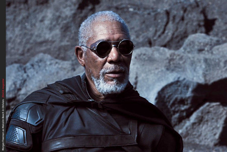 This is the EXACT sunglasses worn by Morgan Freeman in the 2014 movie oblivion with he and Tom Cruise shown without the leather nose piece. The props department for this movie purchased this pair from me.