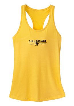 Anglers Racerback Tank Top-Yellowtail