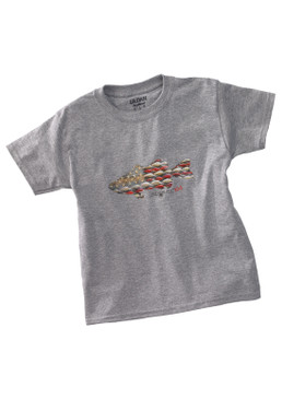 Anglers Kid Tee Shirt-Sport Grey
