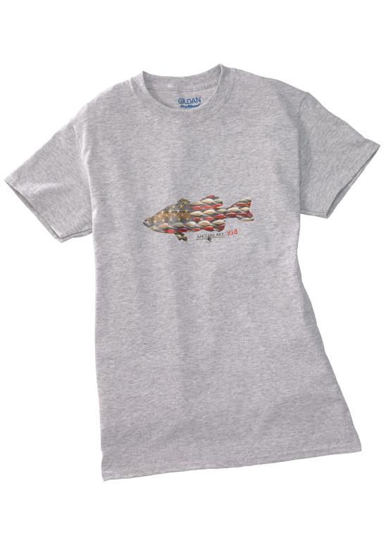 5d3da8b5c Anglers Kid Tee Shirt-Grey - Anglers Art