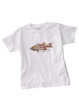 Anglers Kid Tee Shirt-White