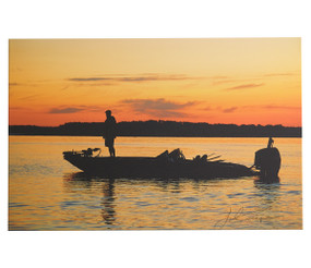 "Tournament Day A worthy print for the tournament angler or the weekend warrior. Printed on quality canvas, ready to hang. All made in the USA. 24"" x 36"" x .75"""