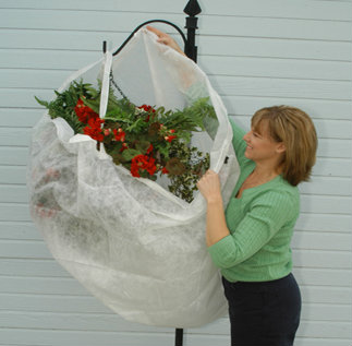 easily protect hanging baskets