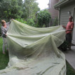 large cover protects garden beds