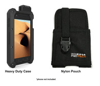 DuraForce PRO Dual Layered Heavy Duty Defense Case and Rugged Nylon Pouch for Kyocera DuraForce Pro E6810 E6820 E6830