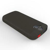 Kyocera DuraForce Pro E6800 Flex Skin Gel Case (Red Emergency SOS Identifier Button)