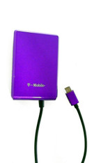 Universal Micro USB Rapid Wall Charger for Mobile Smart Phone Devices 3.1 Amp 5V Adapter - Purple