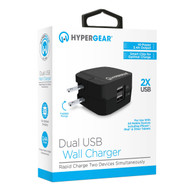 HyperGear Rapid Charge 3.4A Dual USB Wall Charger ‑ Black