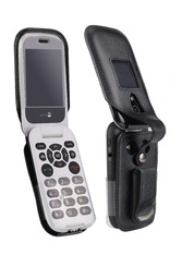 Consumer Cellular Doro 7050 Leather Fitted Case with Swivel Belt Clip by Wireless ProTech