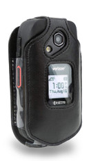 Kyocera DuraXE and DuraXV LTE ( E4710 & E4610) Case, Wireless ProTECH Genuine Leather Case with Swivel Belt Clip, for Kyocera DuraXE and DuraXV LTE  Flip Phone