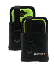 Kyocera DuraForce Pro 2 Case, Flex Skin TPU Case for Kyocera DuraForce Pro 2 and Ballistic Nylon Pouch with adjustable Belt loops By Wireless ProTECH