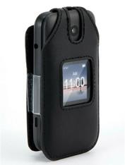 Alcatel SmartFlip Case, Wireless ProTECH Genuine Leather Case Swivel Belt Clip, for Alcatel Smartflip Phone