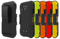 Wireless ProTech Shell Case and Holster Combo for Kyocera DuraForce Ultra 5G E7110. Slim Protective Hard Shell Case with Heavy-Duty Belt Clip Holster