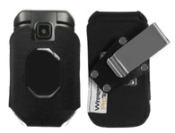 Wireless ProTech Ballistic Nylon Fitted Case with Heavy Duty Quad Lock Swivel Belt Clip for Kyocera DuraXE EPIC for AT&T