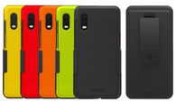 Wireless ProTech Slim Protective Hard Shell Case and Holster Combo for Samsung Galaxy XCover Pro SM-G715.