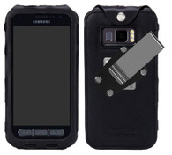 Wireless ProTech Leather Frame Fitted Case with Quad Lock Belt Clip for the Samsung Galaxy XCover FieldPro SM-G889