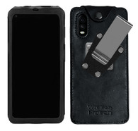 Wireless ProTech Leather Frame Fitted Case with Quad Lock Belt Clip for the Samsung Galaxy XCover Pro SM-G715