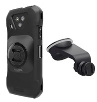 Wireless Protech Case + SP Connect Universal Interface and Suction Mount Car Bundle II for Kyocera DuraForce Ultra 5G E7110