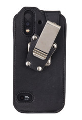 Wireless ProTech  CAT S61 Heavy Duty Leather Fitted Case with Quad Lock Swivel Belt Clip for the CAT S61 phone