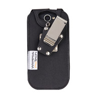 Wireless ProTech CAT S48C Heavy Duty Leather Fitted Case with Quad Lock Swivel Belt Clip for the  CAT S48C phone