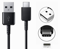 USB Type C to USB-A Charge and Sync Cable 4 Feet USB-C Black