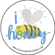 I love honey (roll of 1000 stickers) [IL-A]
